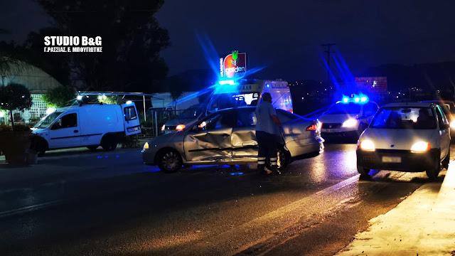 Σοβαρό τροχαίο ατύχημα με τραυματισμό στο Ναύπλιο