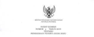 Surat Edaran Mendikbud No 3 Tahun 2019