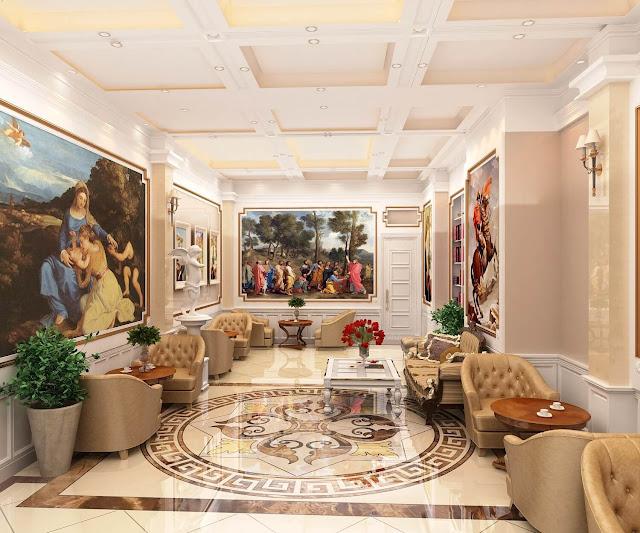 Không gian sống hoàng gia của căn hộ chung cư D'eldorado.