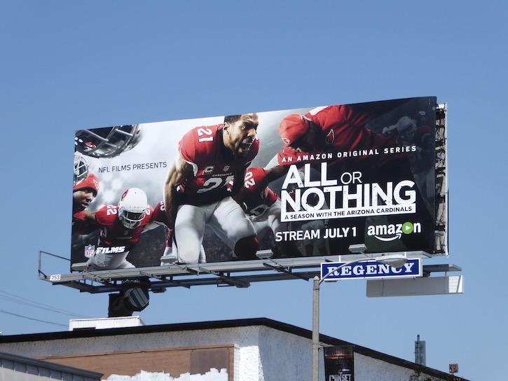 All or Nothing Arizona Cardinals billboard