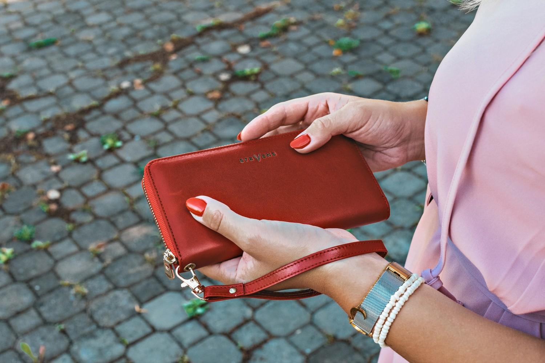 Damski czerwony portfel