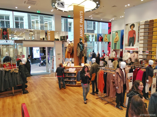 Uniqlo Amsterdam Netherlands store interior entrance