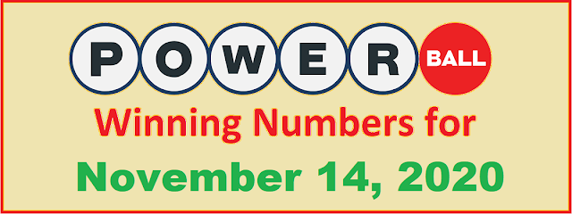PowerBall Winning Numbers for Saturday, November 14, 2020