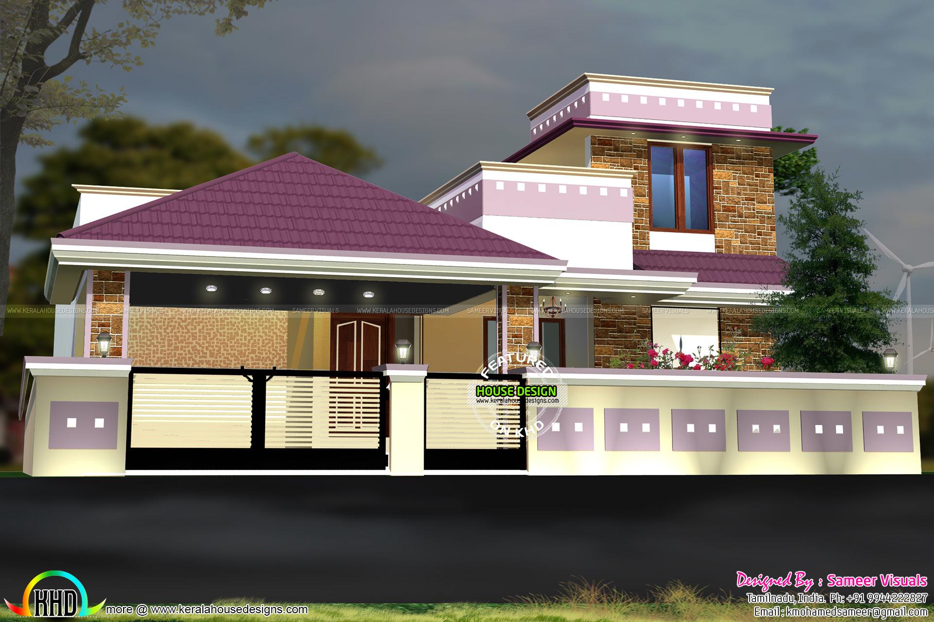 Colorful Modern Tamilnadu Home Kerala Home Design And Floor Plans