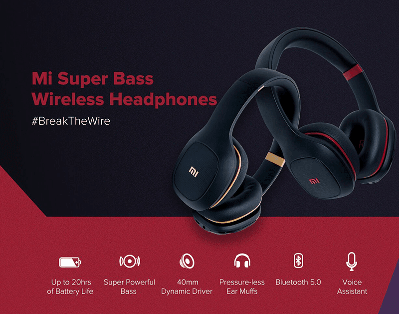 Mi Super Bass Wireless Headphones with ultra-affordable price tag announced!
