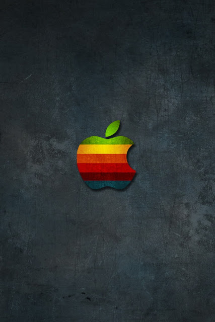 Black Apple iPhone Wallpaper By TipTechNews.com