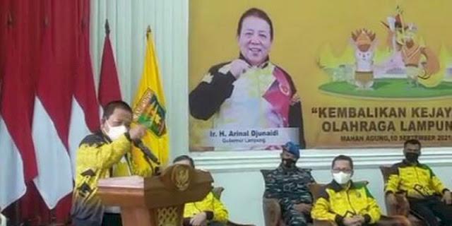 Kasus Dana Hibah 30 M, Gubernur Salahkan Ketua KONI Lampung