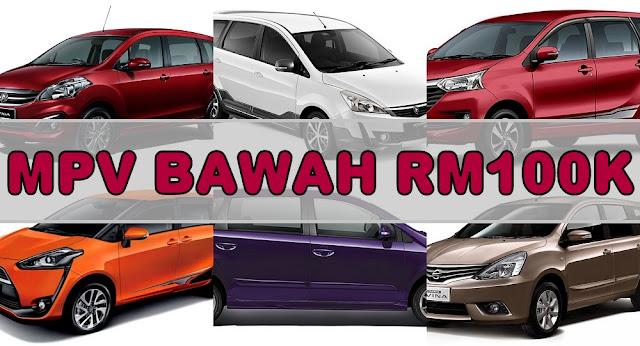 MPV Pilihan Keluarga Bawah Harga RM100K