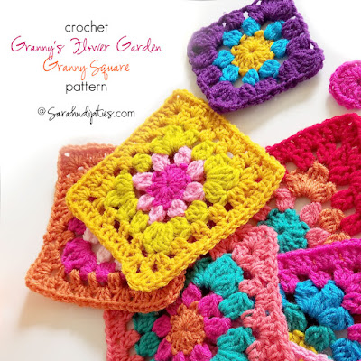 Things to Make: Crochet Granny's Flower Garden - Granny Square Pattern