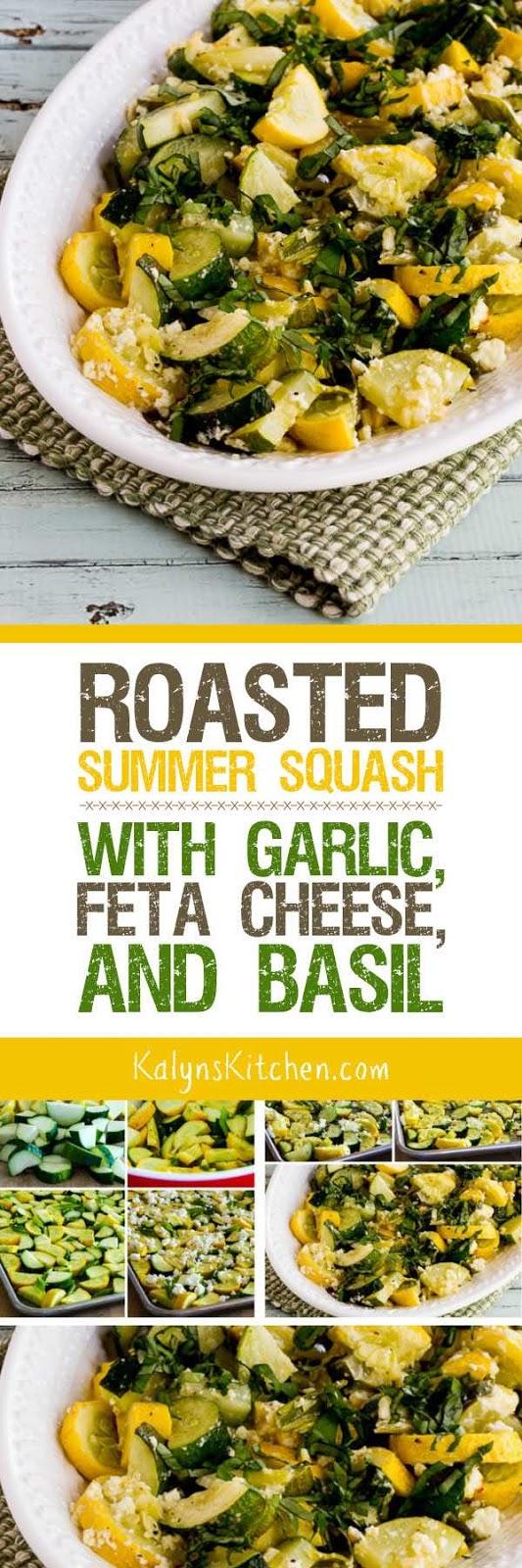 ... Kitchen®: Roasted Summer Squash with Garlic, Feta Cheese, and Basil