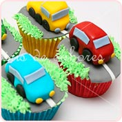 Cupcakes coches