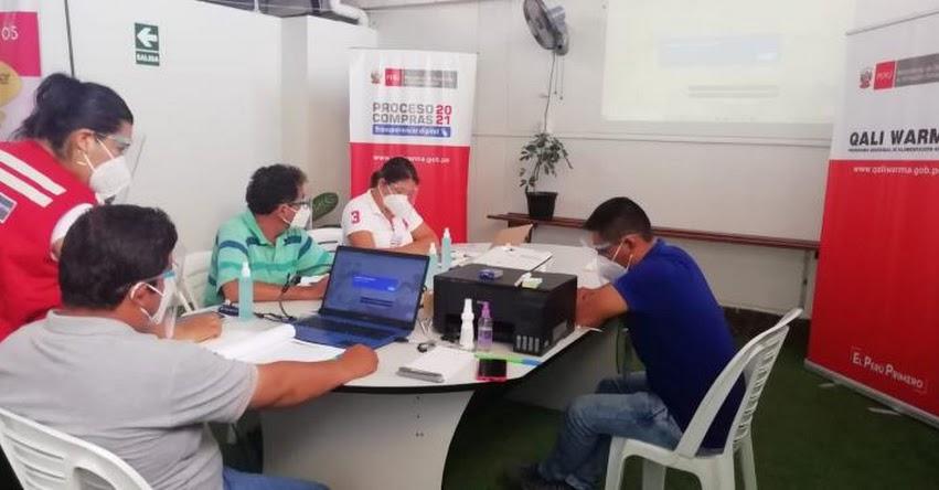 QALI WARMA:Programa social inicia segunda convocatoria del Proceso de Compras Electrónico 2021 en la región San Martín - www.qaliwarma.gob.pe