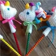 Puntera Unicornio a Crochet