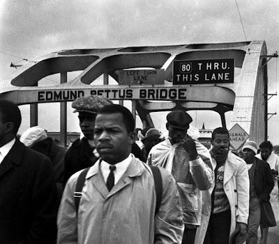 John Lewis on the Edmund Pettus bridge