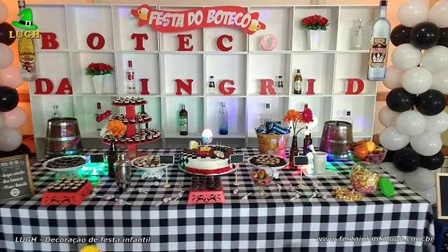Decoração tema Boteco para festa de aniversário masculino e feminino