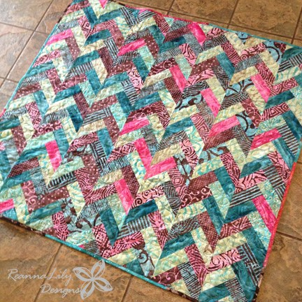 Batik Braid Quilt Free Tutorial Designed by Reanna Lily Designs