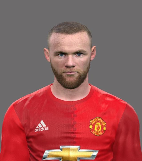 Pes 2017 Lucas Torreira Face By Sameh Momen: PES2017. Face Wayne Rooney (With Beard) By EmreT