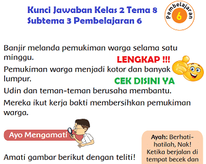 Kunci Jawaban Kelas 2 Tema 8 Subtema 3 Pembelajaran 6 www.simplenews.me