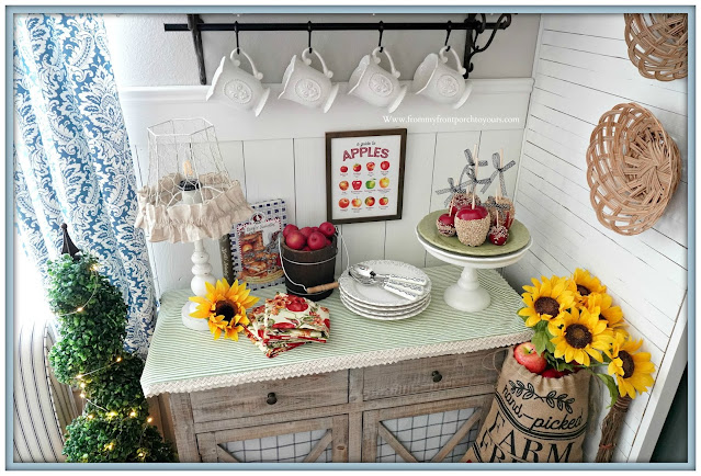 cottage farmhouse style fall decor-vignette-From My Front Porch To Yours