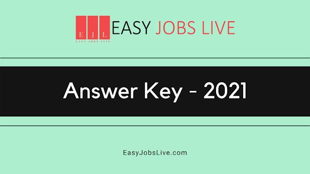 Answer Key – 2021