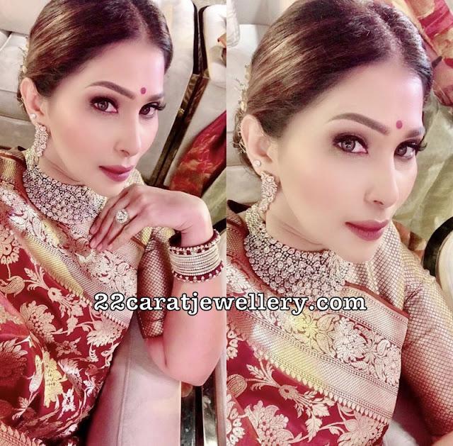 Shreedevi Chowdary Diamond Choker