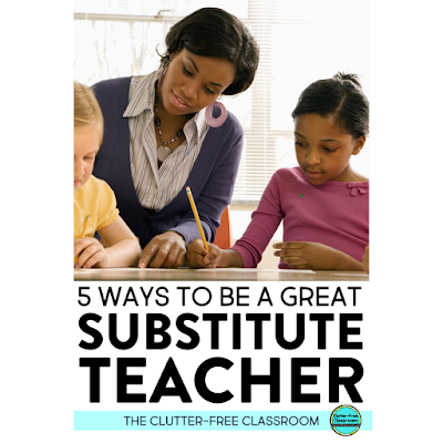 It can be really hard working as a substitute teacher. The Clutter-free Classroom has a whole blog post geared towards substitute teachers. They're sharing outfit ideas, what to keep in your bag, and classroom management. I can definitely use their ideas for activities to do with elementary students.  If you're a sub you need to read this blog! #substituteteacher #teachertips #elementaryteaching