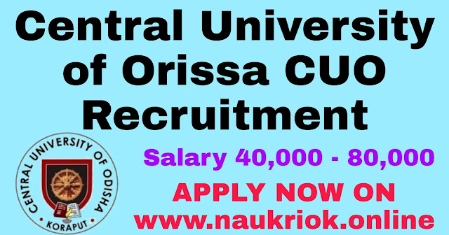 Central University of Orissa CUO Recruitment 2020