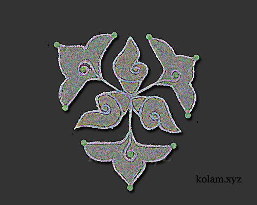 very simple kolam