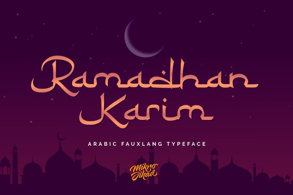 Ramadhan Karim Arabic Fauxlang Font