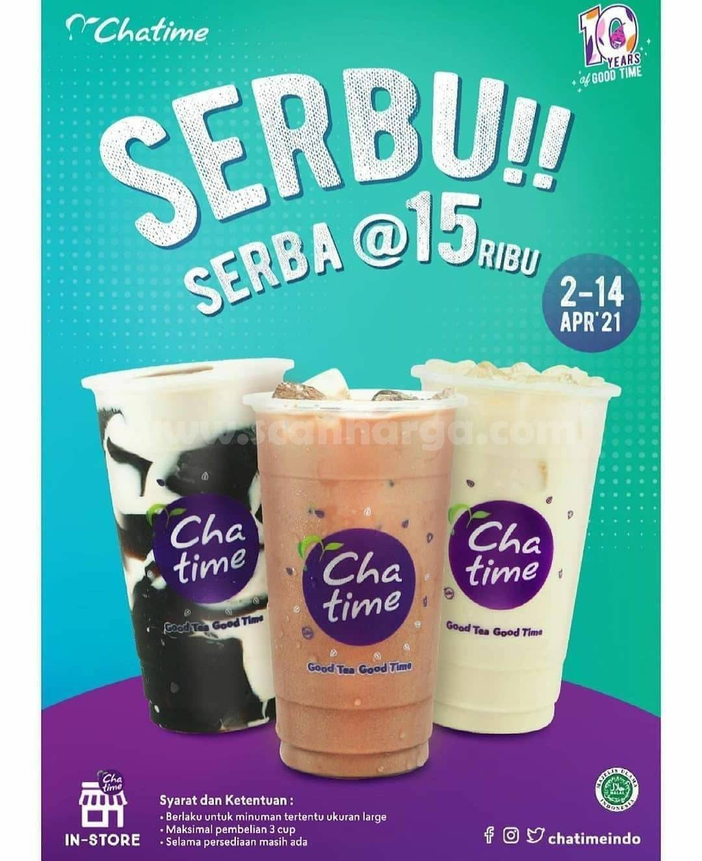 CHATIME Promo SERBU Serba @ Rp. 15.000