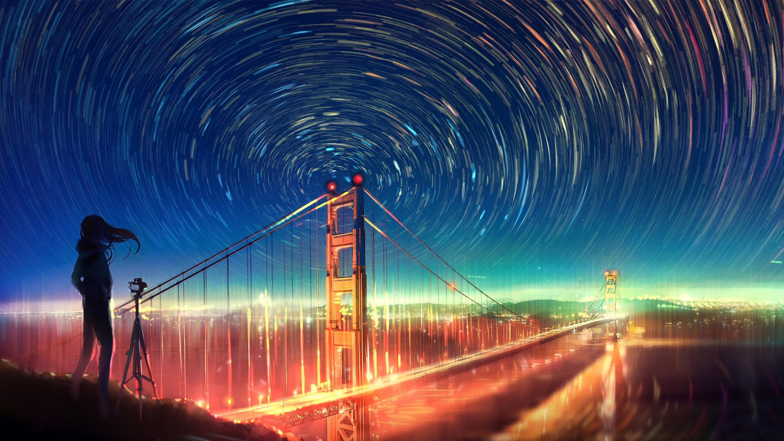 Anime, Girl, Landscape, Night, City, 4K, 3840x2160, #2 ...