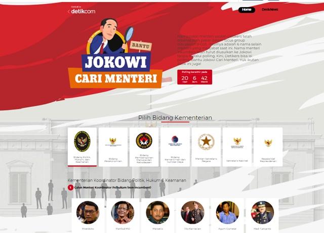 Polling Kandidat Menteri Jokowi di Detik News - detik.com