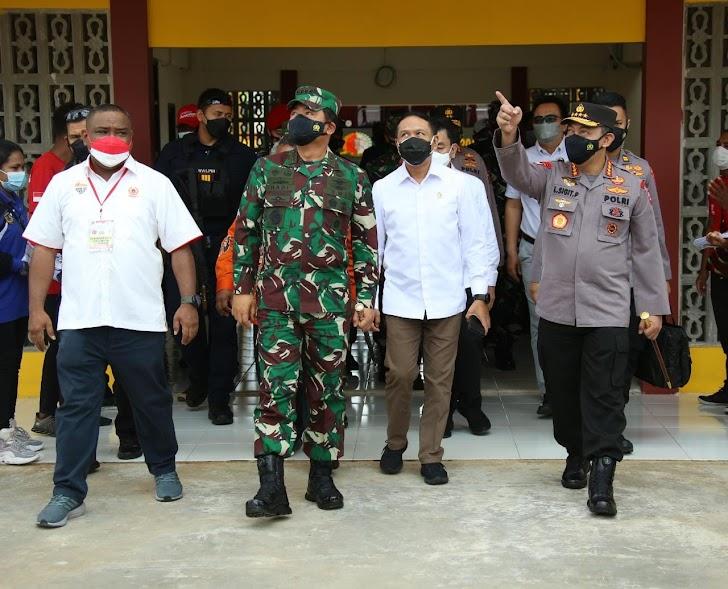Panglima TNI dan Kapolri Pastikan Pengamanan dan Prokes  Tetap Diutamakan di PON Mimika ke-XX 2021