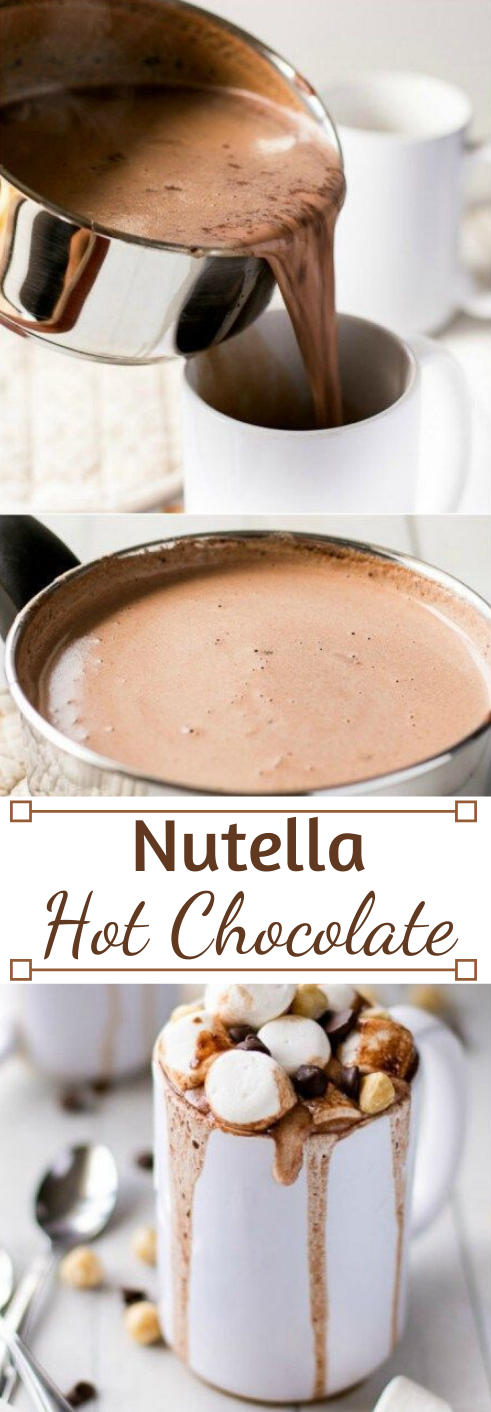 Nutella Hot Chocolate #drink #party #chocolate #nutella #smoothie