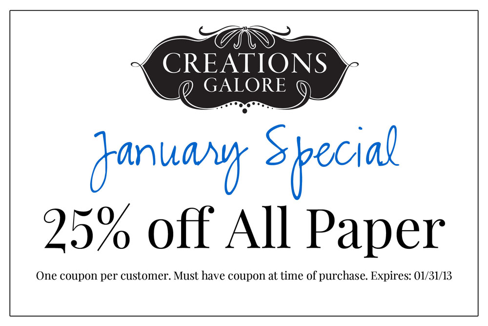 Creations Galore Blog: New Coupon!