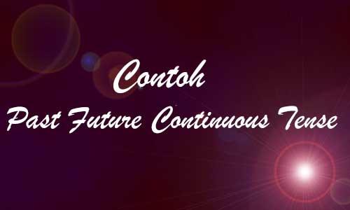 Contoh Kalimat Past Future Continuous Tense dengan Materinya