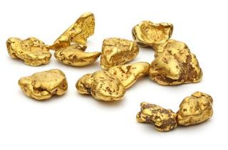 depósitos de ouro de placer