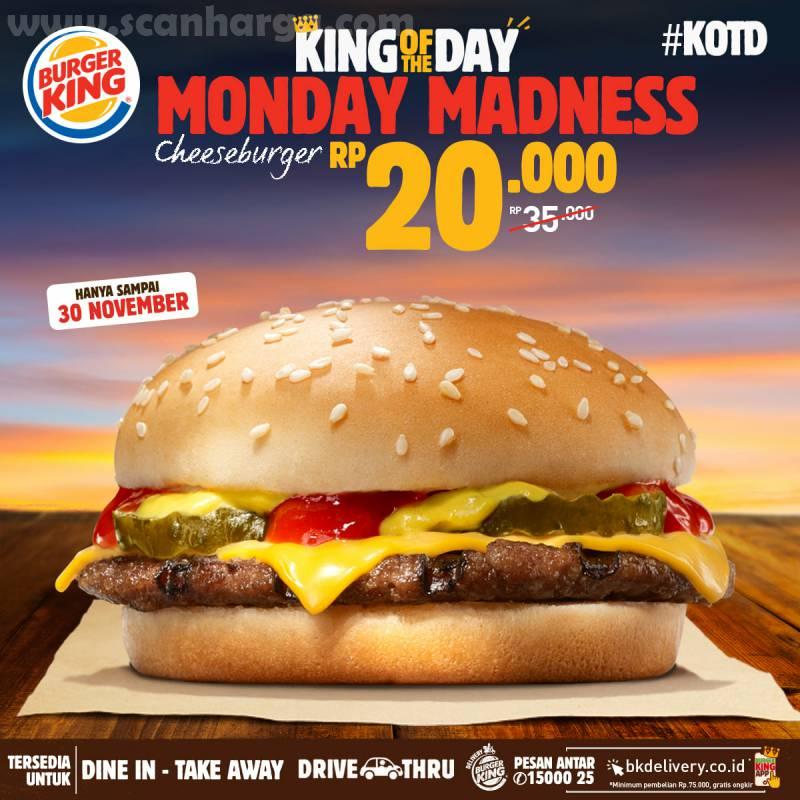 Burger King Promo KOTD: Harga Spesial Hari ini hanya Rp 20.000*2