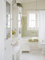 White cottage bathroom design