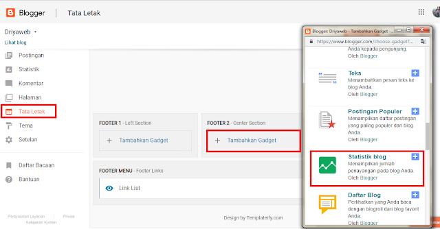cara menampilkan widget jumlah pengunjung dengan mudah