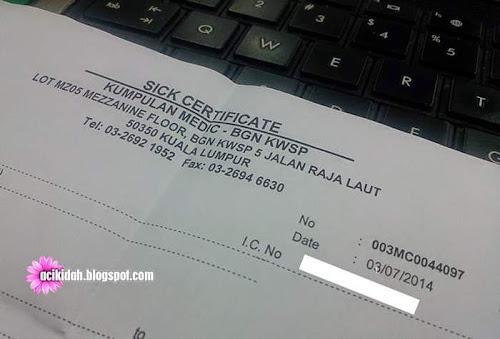 Sick Certificate