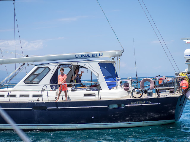 partenza di Luna Blu - Nino e Lucile