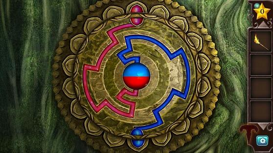 вращаем круги и правильно соединяем красные и синие линии