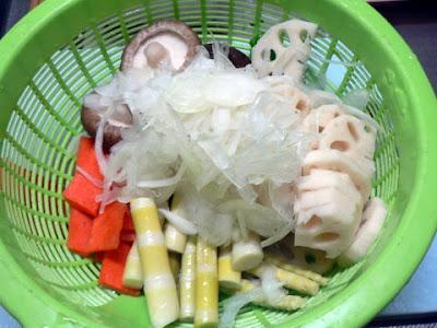肉無し野菜炒めの材料