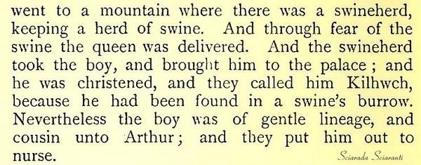 Battesimo di Kilhwch - Kilhwch e Olwen -  The Mabinogion 1902 Lady Charlotte Schreiber