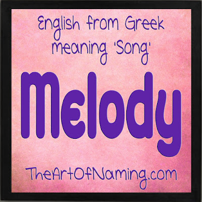 The Art of Naming - Greek baby girl name meaning song - musical names - Old French