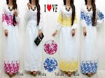Gamis Katun Bordir SOLD OUT