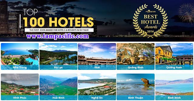 Top 100 khách sạn tốt nhất tại Việt Nam theo Mytour Hotels Award 2016