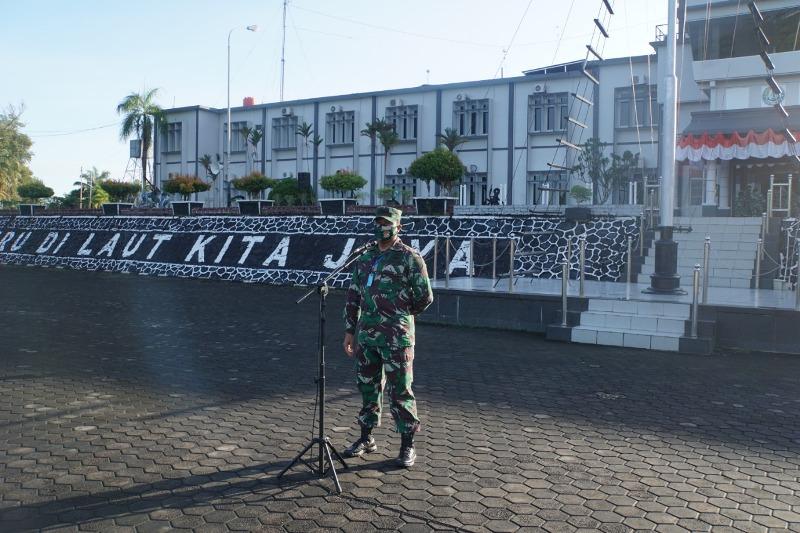 Jelang Sertijab Asintel Danlantamal IV Beri Pengarahan Prajurit dan PNS Lantamal IV