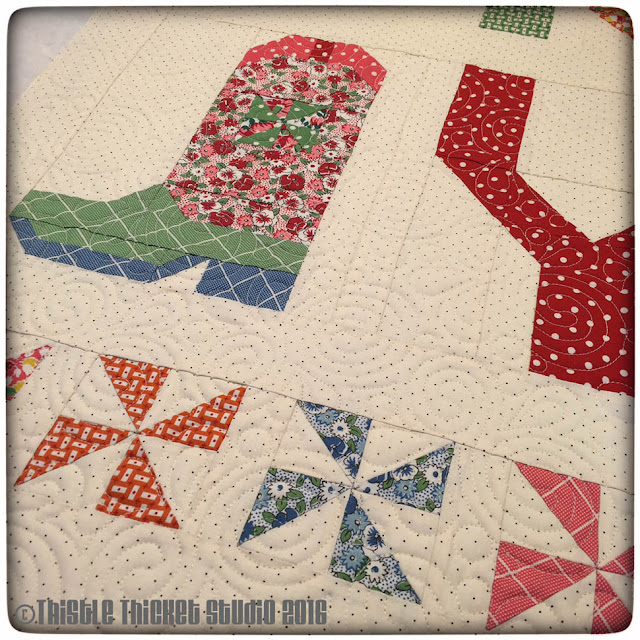 Howdy Y'all Quilt closeup by Thistle Thicket Studio. www.thistlethicketstudio.com